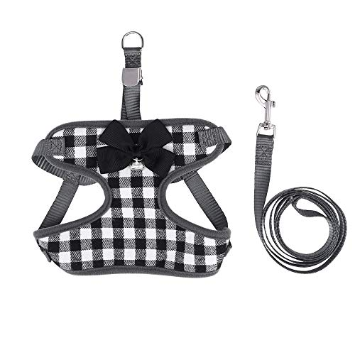 CUTEPET Cane Cintura di Sicurezza Senza Pull Vestito della Maglia, Regolabile Oxford Materiale for Pet Cinture di Sicurezza, Cinghie di trazione e collari (Color : Black, Size : L)