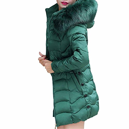 GNYD Rain Coats Jackets for Women Fur Collar Puffer Padded Waterproof Parka Red Black Gray Green Womens Winter Warm Hooded Long Jacket Fur Down Cotton Coat Long Parka Trench