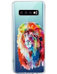Oihxse Compatible con Samsung Galaxy S7 Edge/G9350 Funda Suave Gel TPU Silicona Cristal Transparente Carcasa Acuarela Animal Pintado Patrón Protectora Estuche Bumper Caso Case (B3)