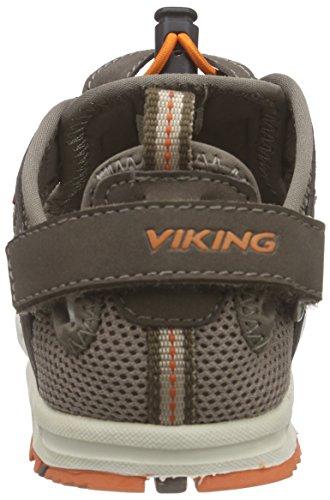 Viking Loke, Sandales ouvertes mixte enfant Marron - Braun (Taupe/Orange 9031)