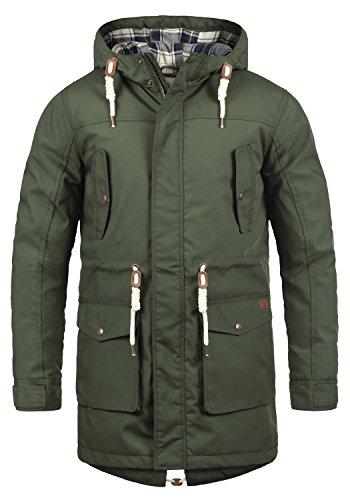 !Solid Chara Herren Winter Jacke Parka Mantel Lange Winterjacke gefüttert mit Kapuze, Größe:L, Farbe:Climb Ivy (3785)