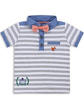 The Essential One - Baby Kinder Jungen - Poloshirt und Krawatte - Grau - EOT266