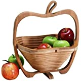 First Décor Wooden Fruit Basket Bowl For Kitchen For Dining Table Multi Purpose Fruit Basket Showpiece Decorative Bowlfor Gift