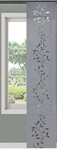 Moderner Flächenvorhang Schiebegardine Tendril aus hochwertigem Ausbrenner-Stoff mit Klettband, 245x60 (HxB), Grau, 85611