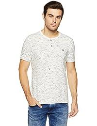 LP Jeans By Louis Philippe Men's Solid Slim Fit T-Shirt - B07DSSMKTJ