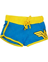 Dc Comics Wonder Woman Juniors Blue Booty Shorts