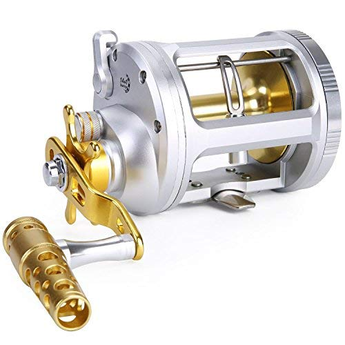 One Bass der Fischerei Rollen Level Wind Schleppen Reel herkömmlichen Jigs Spule für Salzwasser Big Game Angeln, TA3000