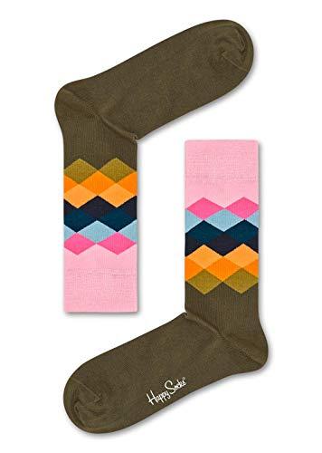 Happy Socks Unisex Faded Diamond Sock, Türkis (Hell Türkis 7001), 41-46 -