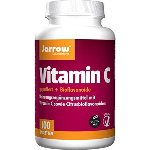Vitamin C Zitrone (Vitamin C 500 mg, gepuffertes Calciumascorbat mit Bioflavonoiden, 100 schnell auflösende Tabletten, optimal bioverfügbar, Jarrow Deutschland)