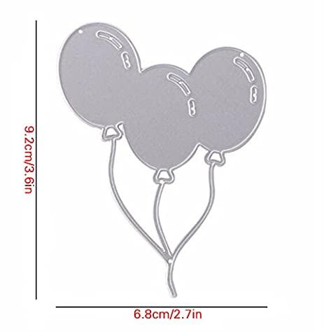 Enipate Ballon en métal de coupe Dies Pochoirs décoratifs DIY Album de scrapbooking gaufrage pour cartes de visite papier Die Gabarit de découpe