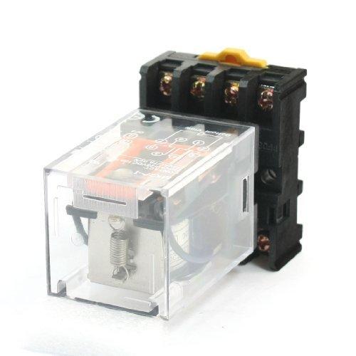 dc-24-v-coil-dpdt-8-broches-rondes-relais-electromagnetique-w-rail-din-socket