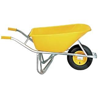 ALTR.-FORT 02100 SMB/100 Extrem-Baukarre 100 Liter gelbe PE-Tiefmulde, Ovalrohrrahmen galv. verzinkt