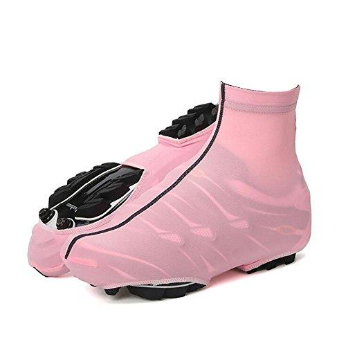Fahrrad-Schuh-Hemd Reines Farben-Reitschuh-Abdeckungs-Reitsport-Sport-Schuh-Abdeckung Staub Antifouling-Fahrrad-Kleid , pink , (Kleid Schuh Abdeckungen)