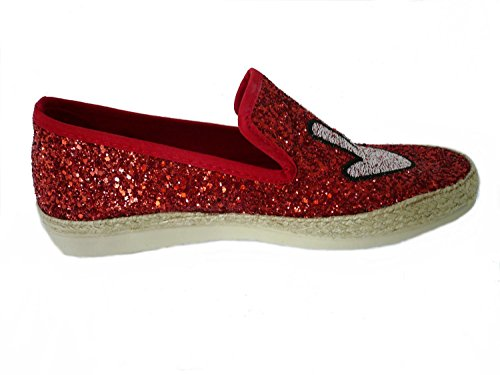 I love candies Glitter, Mocassins femme Rot (Red)