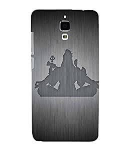 Takkloo Lord shiva God of Hindu,Grey background, shadow of god shiv, Nice painting, om namah shivay) Printed Designer Back Case Cover for Xiaomi Redmi Mi 4 :: Redmi Mi 4