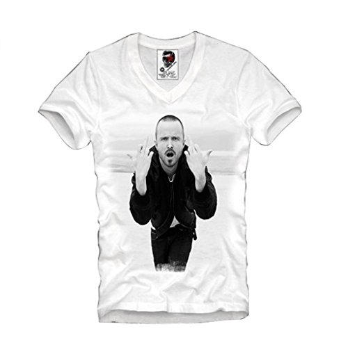 E1SYNDICATE V-NECK T-SHIRT JESSE PINKMAN BREAKING BAD LOS POLLOS HERMANOS COOK S/M/L/XL