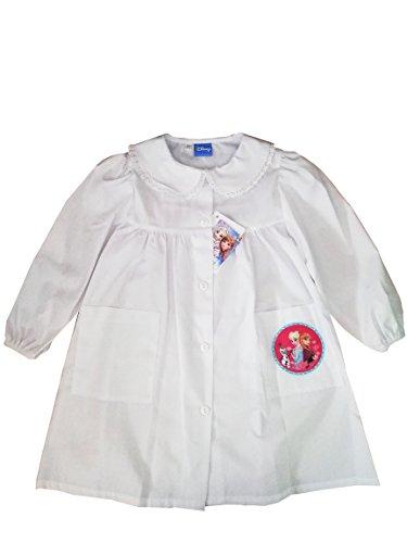 Grembiule scuola materna, frozen g012 colore bianco originale disney-alta qualita' (2 anni-92)
