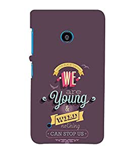 EPICCASE we are young Mobile Back Case Cover For Nokia Lumia 530 (Designer Case)
