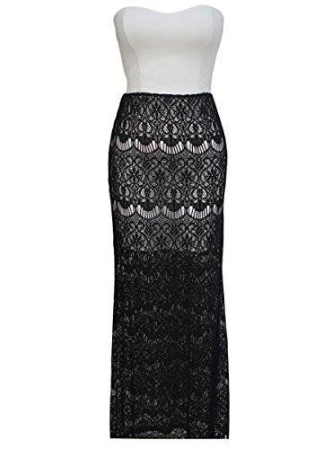 Dissa® FOB60128 femme Mini Robe de soirée Noir