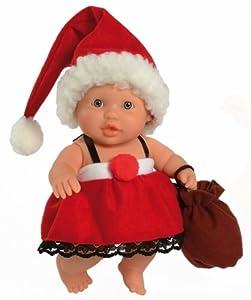 Paola Reina Greta, muñeca de Vinilo, Vestido en Papá Noel 22 cm (01128), Multicolor
