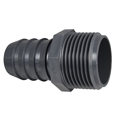 Spears 1436015 Poly Rohr 1.5 PVC MPT x Insert-Stecker-Adapter (Mpt Stecker-adapter)
