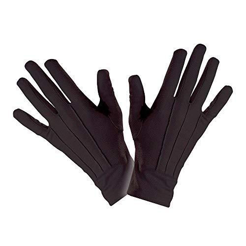 WIDMANN Black gloves accesorio de disfraz