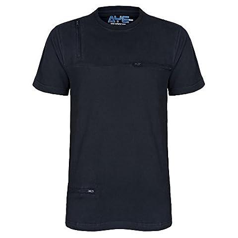 AyeGear T5 TShirt avec 5 Poches Discrètes, Qualité supérieure, Matériau souple et ultra, Sports et Chemise de Voyage