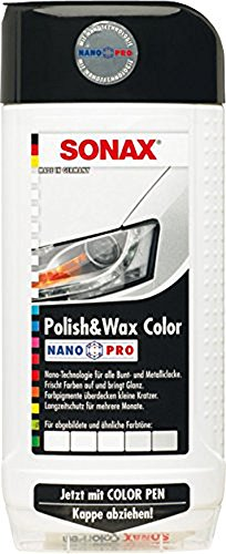 Preisvergleich Produktbild 500ml SONAX POLISH & WAX COLOR NANOPRO WEISS AUTOPOLITUR LACK AUTO POLITUR