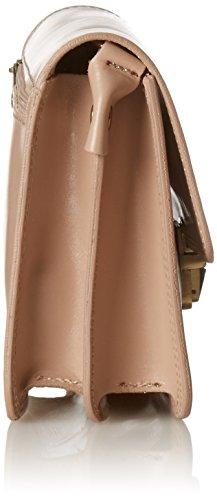 CTM Klein Womens Schulter-Aktenkoffer aus echtem Leder hergestellt in Italien - 20x17x7 Cm Pink (Rosa)
