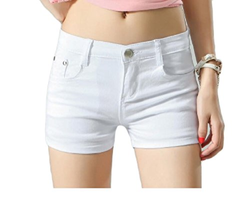 aicessess Women Short Summer Shorts Skinny Summer Leisure Mulit Color Shorts Jeans