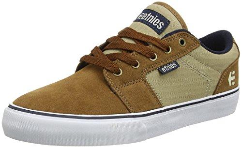 Etnies Herren Barge Ls Skateboardschuhe, Grau/Schwarz/Weiß Brown (Brown/Navy)