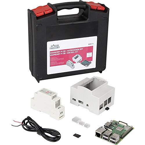 Raspberry Pi® 3 B+ DIN Rail Set 1 GB 4 x 1.4 GHz inkl. Hutschienengehäuse, inkl. Hutschienennetzteil, inkl. Noobs OS, in (Soc-prozessor)