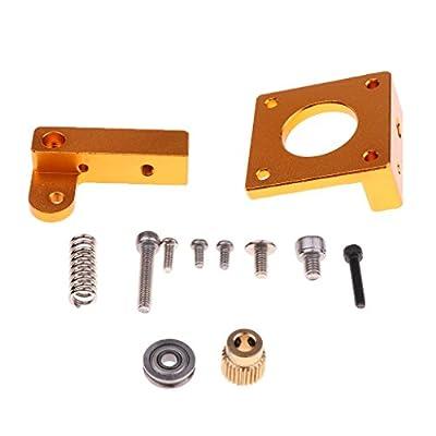 MagiDeal MK8 Extruder Aluminium Rahmen Block DIY Kit für 3D Drucker