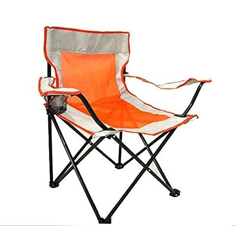 Pliage extérieur chaise section Thicker de grandes chaussures de maille accoudoir chaise de plage de pêche chaise de chaise