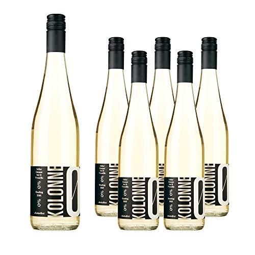Kolonne Null - Alkoholfreier Wein (6 x 0,75 L) - Weißwein Riesling Jahrgang 2018