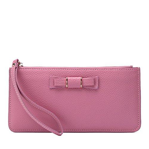 Sacchetto Di Mano Lungo Del Raccoglitore Di Modo Del Portafoglio Della Carta Delle Donne Pink