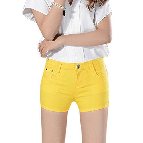 Pantalón cortos amarillos para mujer