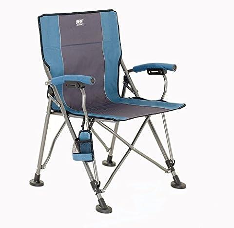 Sunbelt Campingstuhl, Faltstuhl Klappstuhl mit Flaschenhalter, Anglerstuhl Relaxstuhl für Camping Angeln Wandern Strand Garten (Blau XXL)