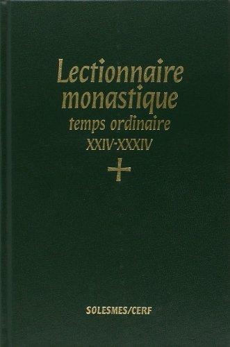 Lectionnaire monastique de l'Office divin par Église catholique