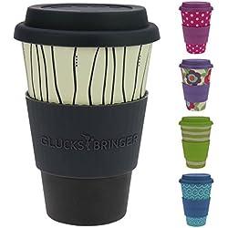 Termo de cafe reciclable hecho de bambú