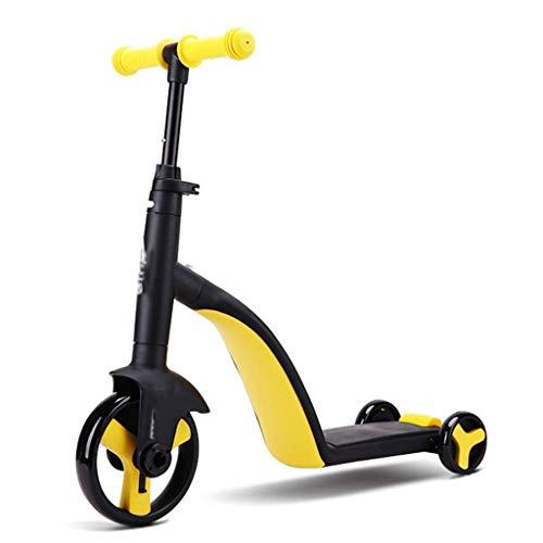 Breay1986 Kinderroller Dreiradroller Mehrzweckroller, Mädchen- und Jungenroller - Bester Kinderroller für Kinder ab 2 Jahren (Color : Yellow)