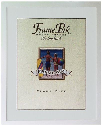 Frames By Post Cornice per foto H7 larghezza 25 mm con passepartout bianco 20 x 16 pollici per foto di formato 16 x 12 pollici con vetro in plastica, bianco