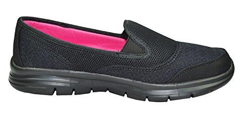 Donna Superleggero Memory Foam Da Passeggio Da Palestra Scarpe Con Skechers Calze Black 1