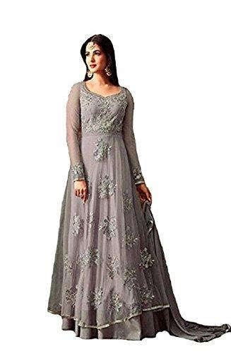 Monika Silk Mill salwar suits for women (MSM-Maisha - 4807 Grey)