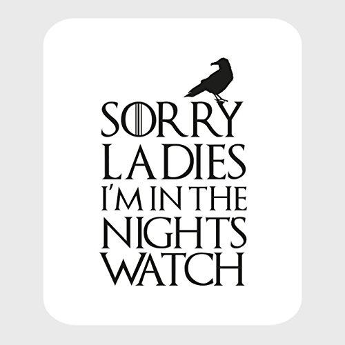 Preisvergleich Produktbild StyloTex Autoaufkleber Sorry Ladies I m in the Nightwatch - UV geschützt
