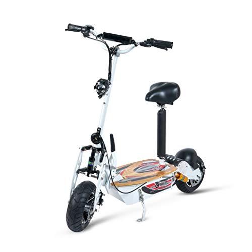 Patinete, Scooter tipo moto Eléctrico dos ruedas, Plegable, Color Blanco, Motor de 2000W, Velocidad máxima 40km/h, Autonomía hasta 30-40km, Con...