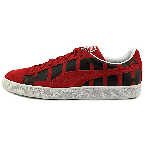 Puma Suede Classic + Big Logo Cuir Baskets Red-black-white