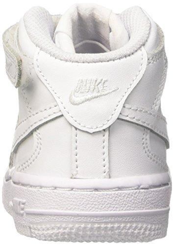 Nike Force 1 Mid Td, chaussures de sport mixte enfant Blanc