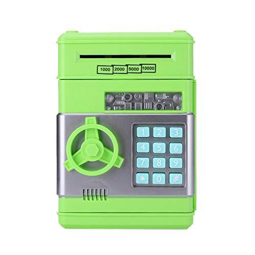 Hucha electrónica automática Cajero automático Contraseña Caja de dinero Caja de ahorro Verde