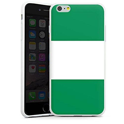 Apple iPhone X Silikon Hülle Case Schutzhülle Nigeria Flagge Fußball Silikon Case weiß